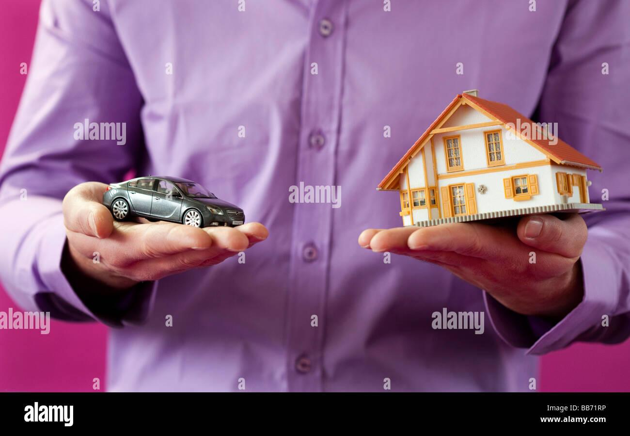 Mein Haus, mein Auto Stockbild
