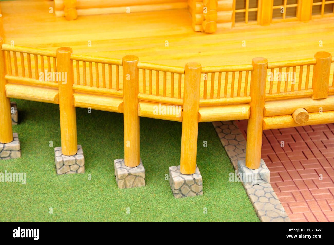 Holz Balkon Modell Stockfoto Bild 24127905 Alamy