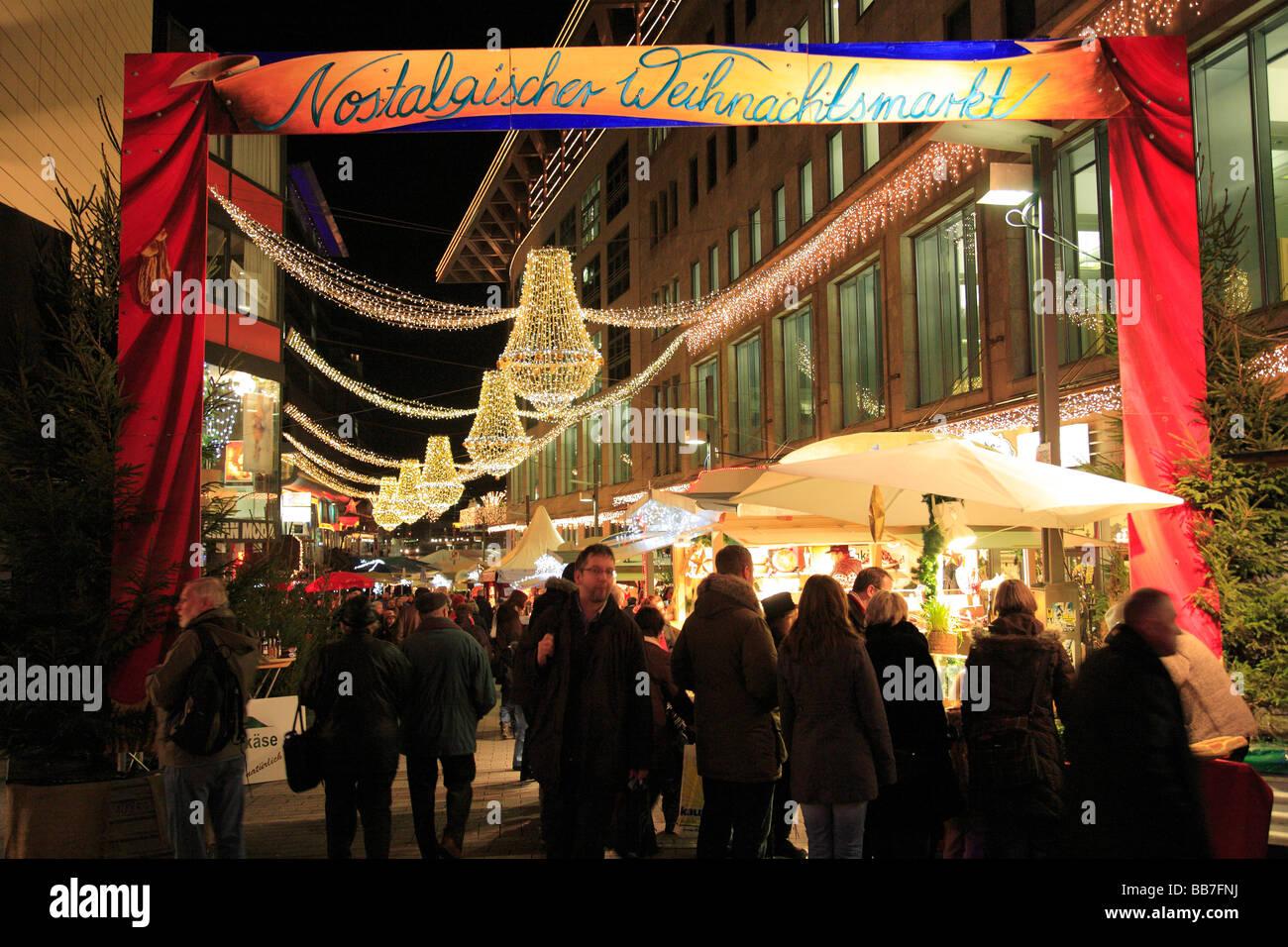 D-Bochum, Ruhrgebiet, Nordrhein Westfalen, Festtage, Advent, Weihnachten, Weihnachtsmarkt, Stall, Einkaufszentrum Stockbild