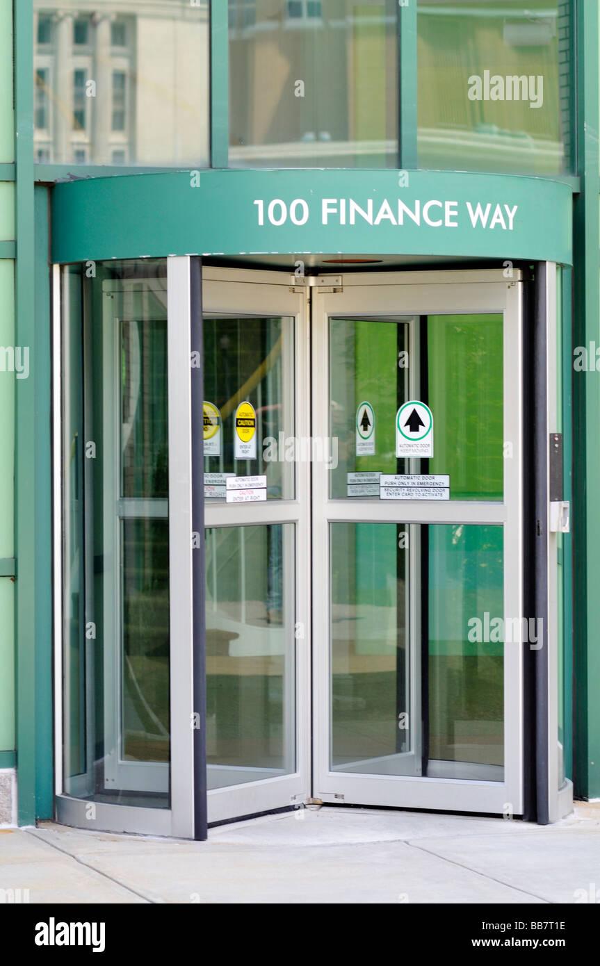 "Financial Gebäude Eingang 100 Finance Weg in ""Providence Rhode Island' Stockbild"