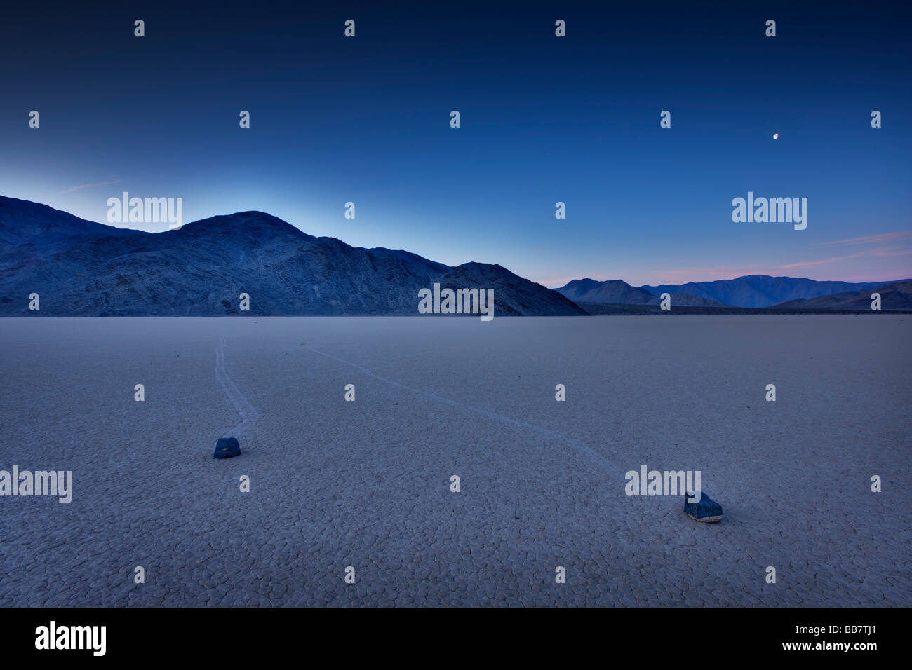 Die Rennstrecke in Death Valley Nationalpark in Kalifornien, USA Stockbild