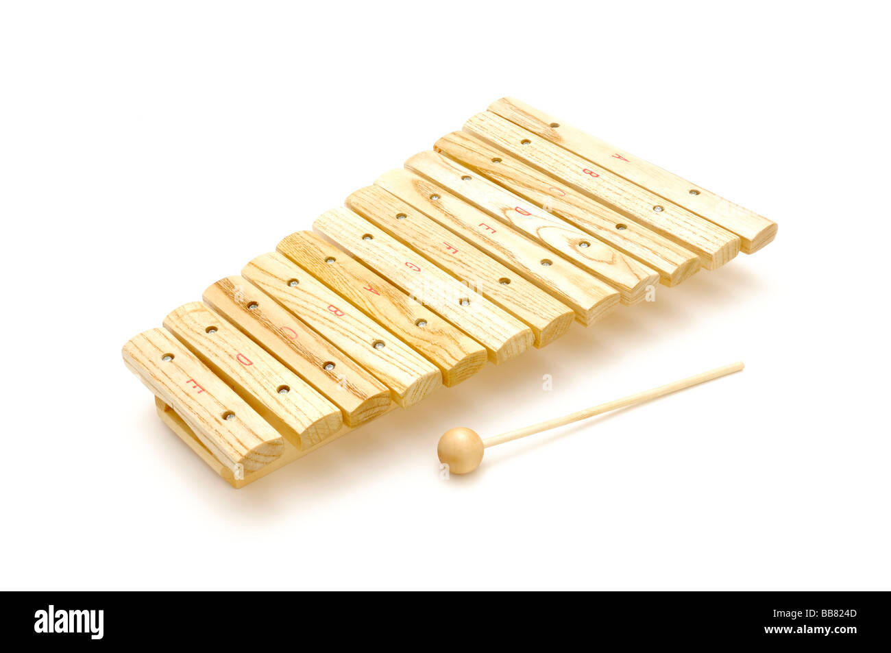 Hölzerne Instrument, Xylophon Stockbild