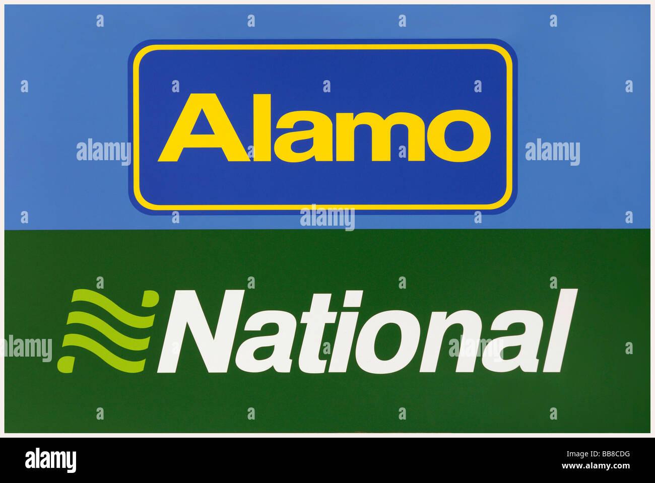 Alamo National Autovermietung, Mietwagen Stockbild