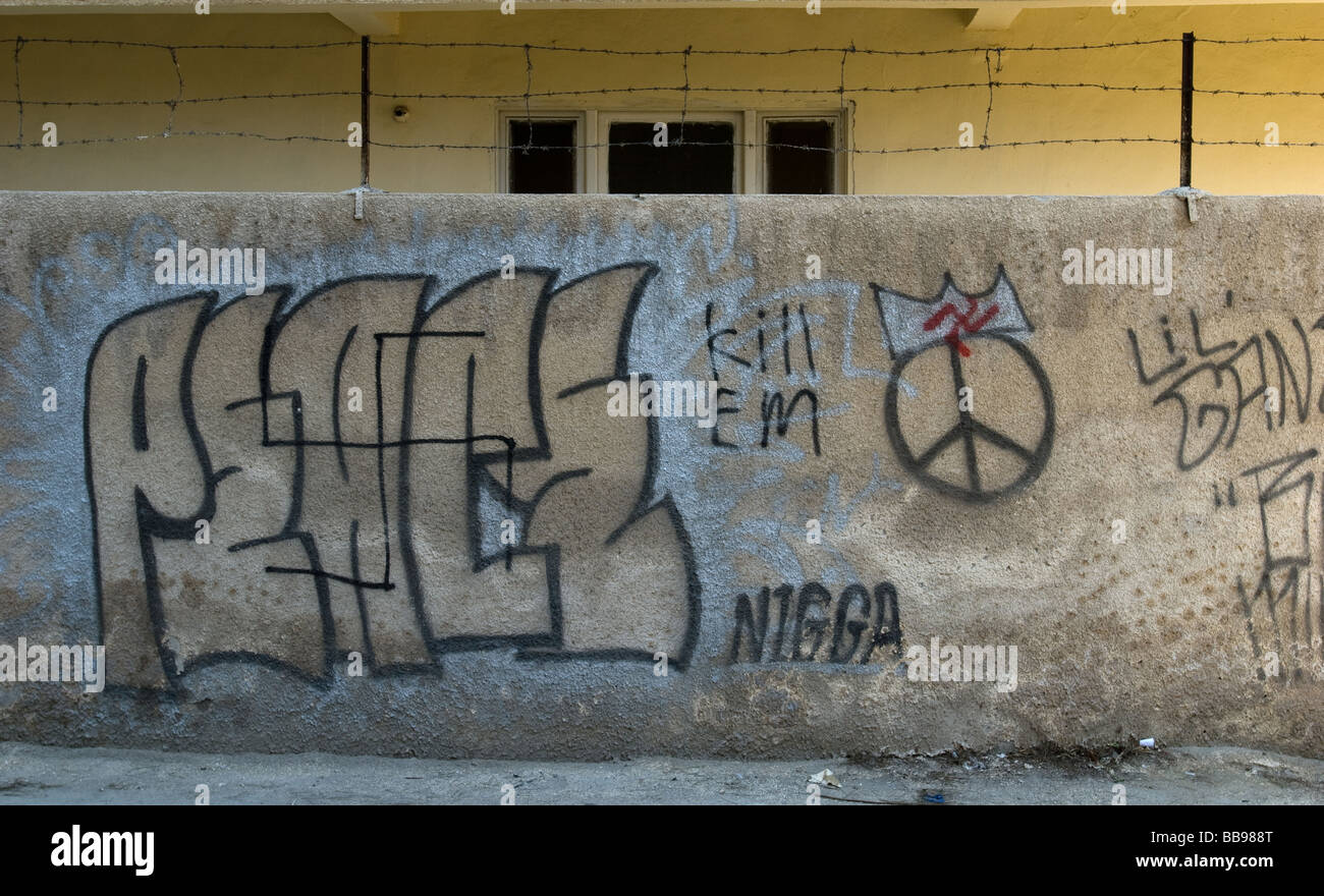 graffiti an der nordkoreanischen botschaft damaskus syrien stockfoto bild 24175672 alamy. Black Bedroom Furniture Sets. Home Design Ideas