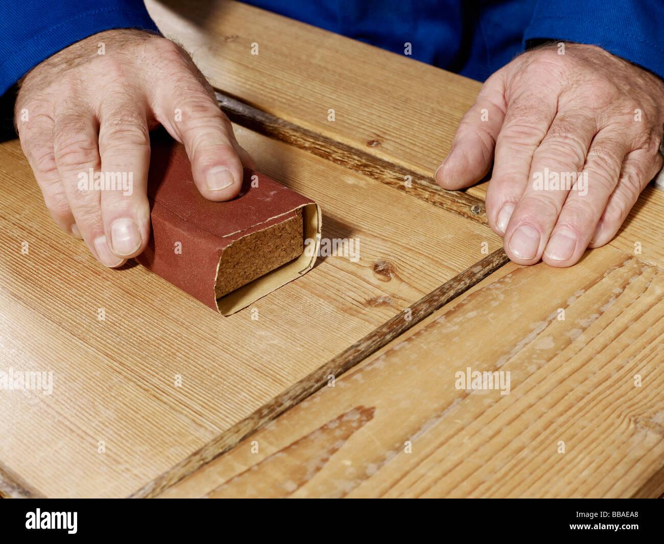 detail eines mannes holz schleifen stockfoto, bild: 24202368 - alamy