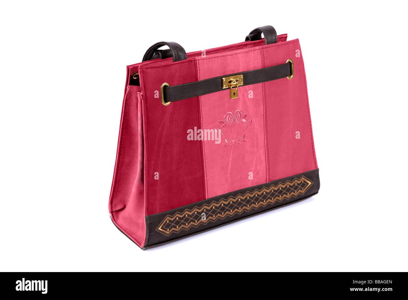 995f2b7a80fbc Pink Ladies Fashion Handtasche vor einem weißen Hintergrund ...