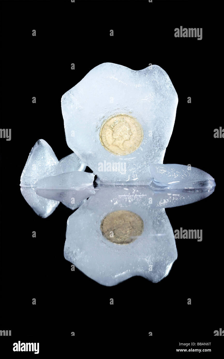 gefrorene sterling Stockbild