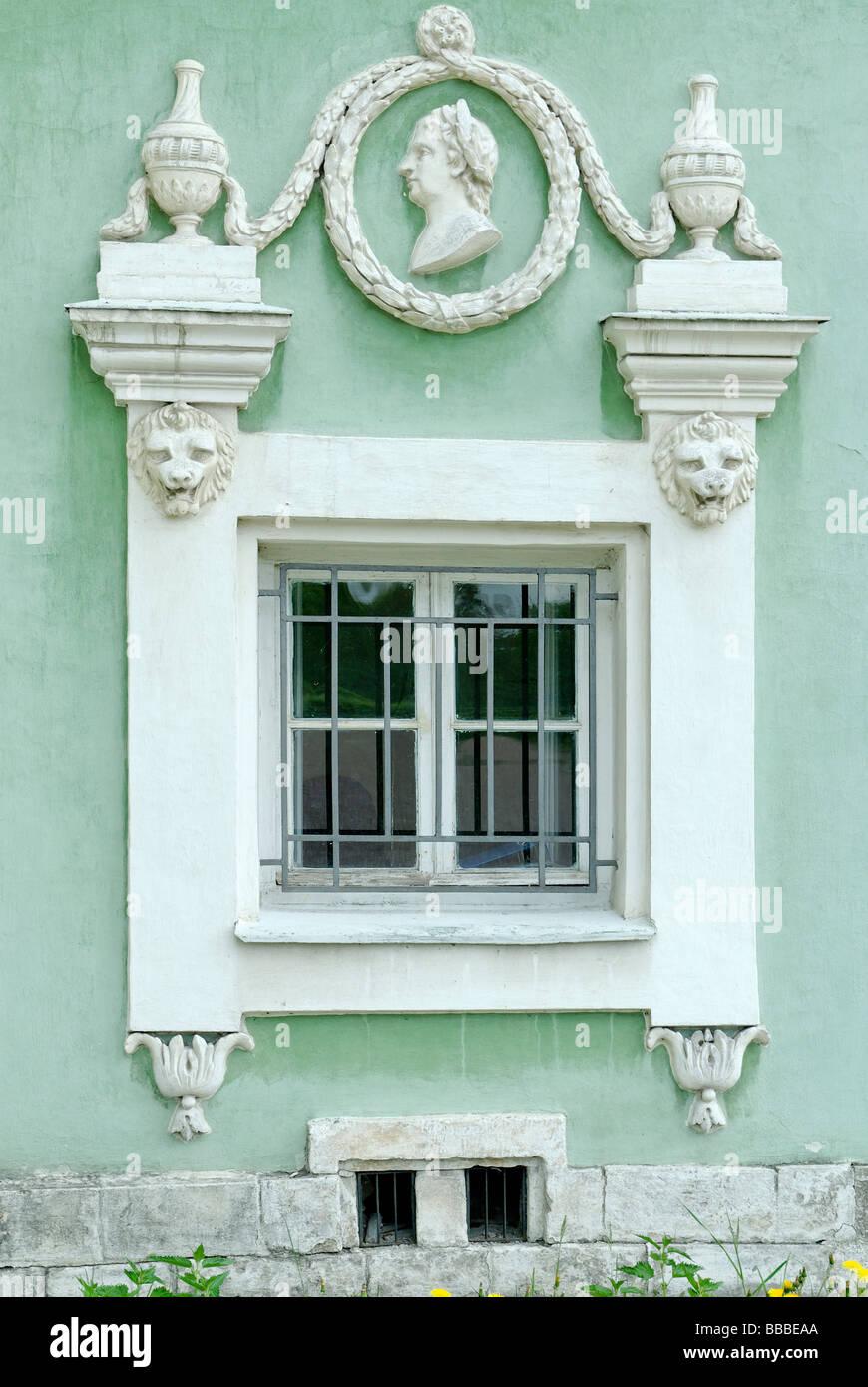 Haus aus dem Fenster der alten 18 Jahrhundert Stockbild