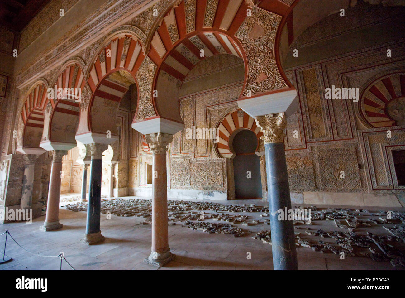 Halle Des Abd Al Rahman III Bei Der Maurischen Ruinen Von Medina Azahara In Nhe