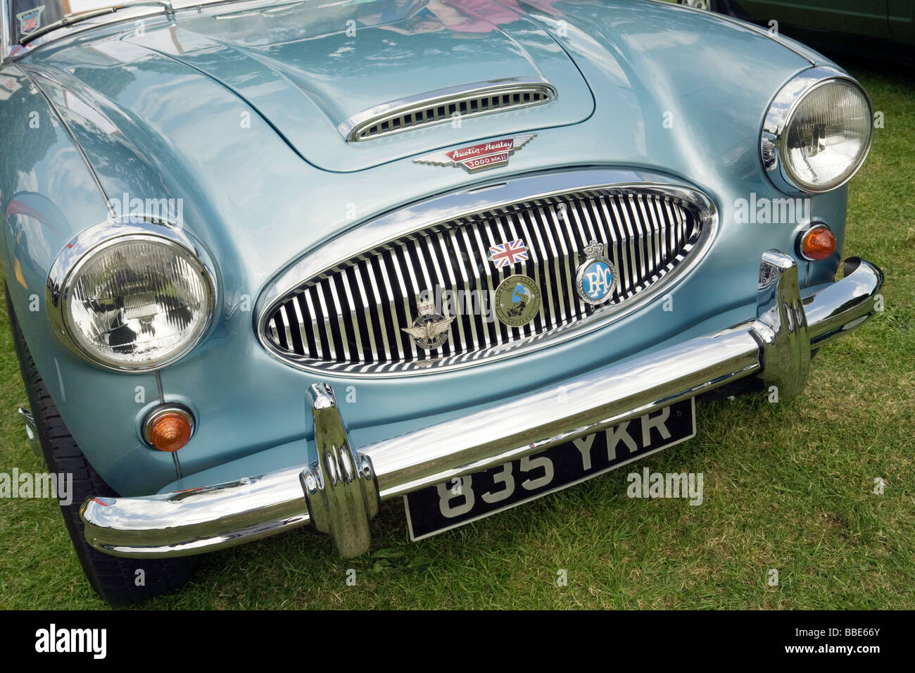 Der Austin Healey 3000 Mark 2 Oldtimer Sportwagen bei Wallingford Oldtimer-Rallye, Wallingford, Oxfordshire UK Stockbild