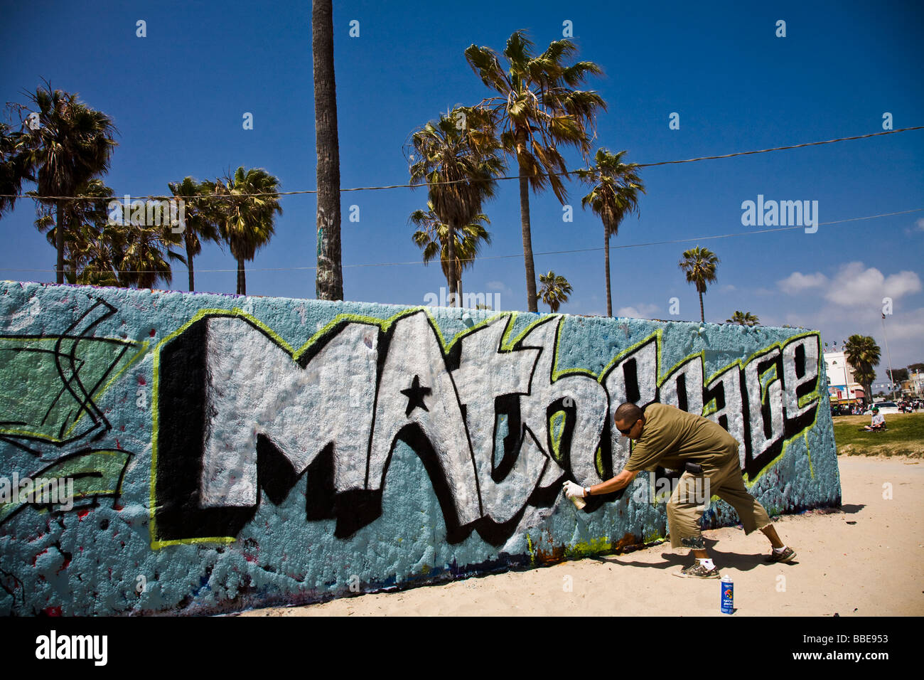 Graffiti-Künstler Venice Beach Los Angeles County Kalifornien Stockbild