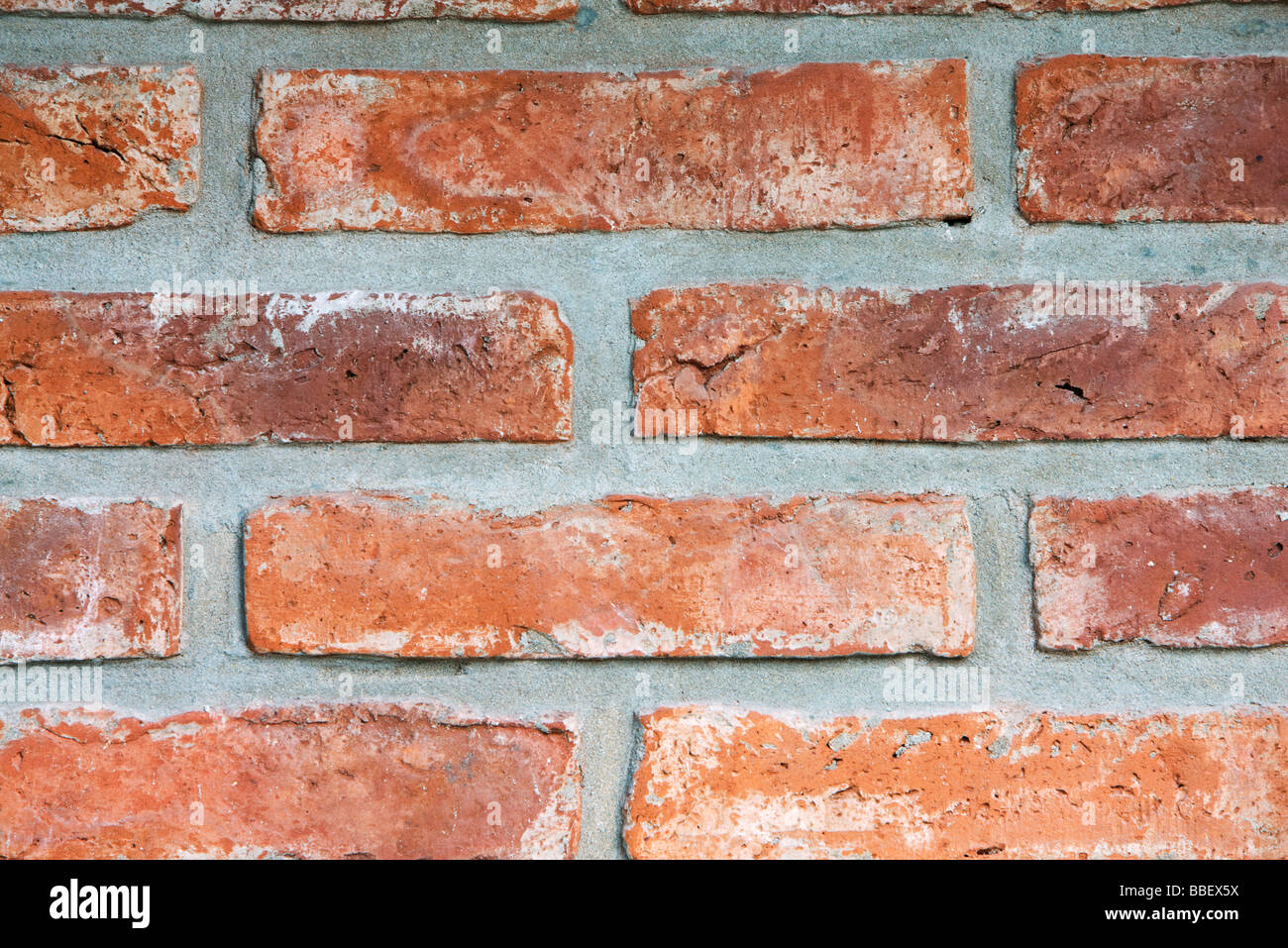 Ziegelmauer, close-up Stockbild