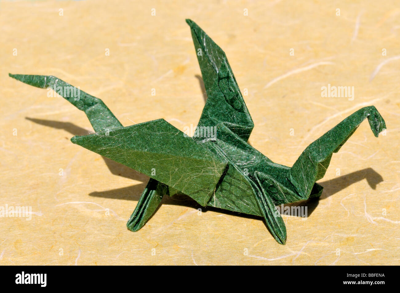Origami Drache. Stockbild