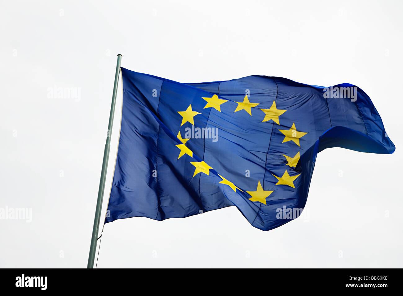 Flagge der Europäischen Gemeinschaft Stockbild