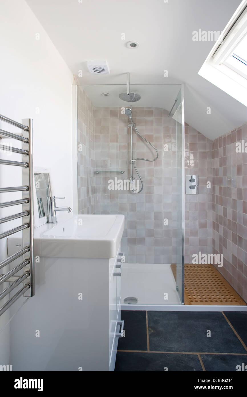 Bad, Badezimmer, Bad, Dusche, Toilette, Haus Stockfoto, Bild ...