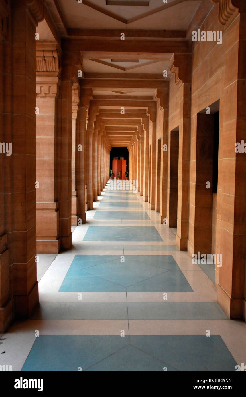 Architekturdetail im Museum der Maharaja Palace, Jodhpur, Rajasthan, Nordindien, Asien Stockbild