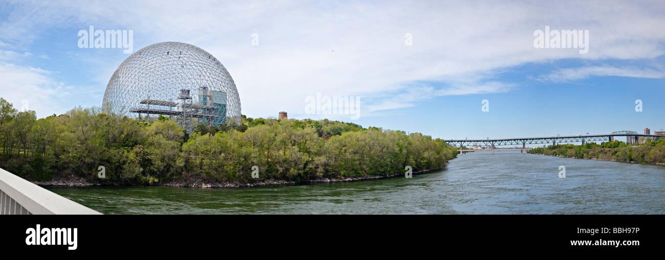 Biosphäre, Umwelt-Museum, Montreal, Quebec, Kanada Stockbild