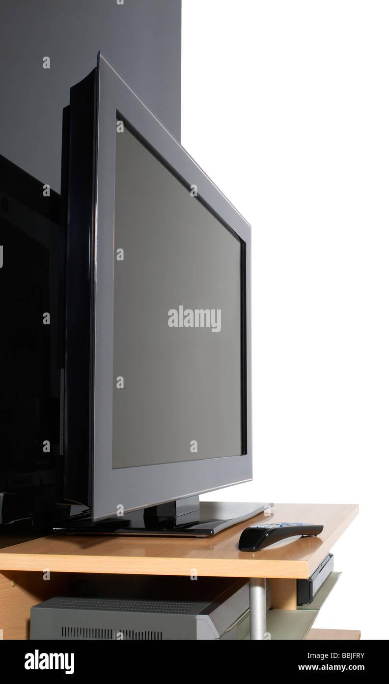 Flat Screen TV Fernsehen Plasma vertikale Stockbild