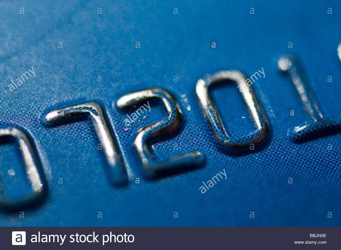 Kreditkarten-Nummern Stockbild