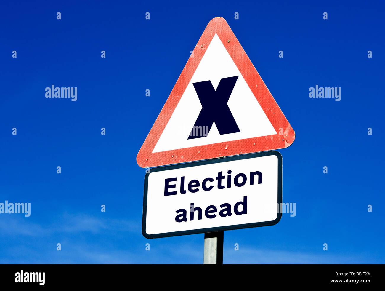 Britische allgemeine Wahl Konzept Stockbild