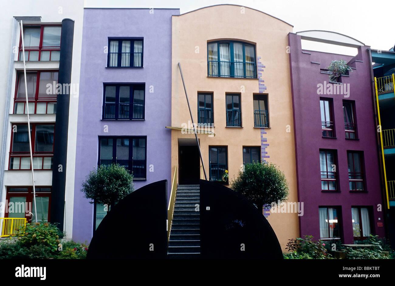 Moderne Häuser in der Altstadt Schnoorviertel An der Marterburg ...