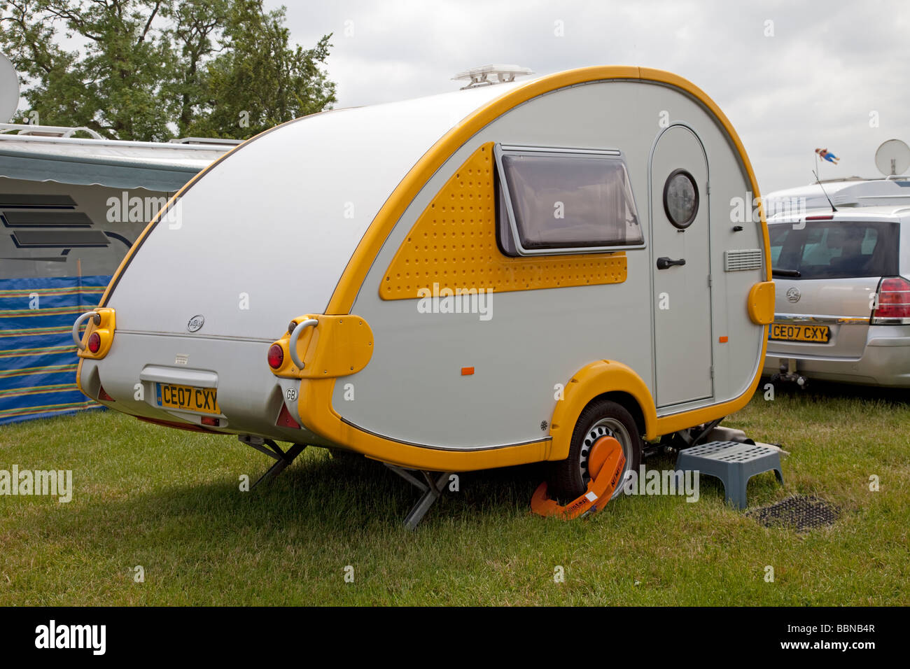 Mini-leichte deutsche Pod Wohnwagen TAB 400L Stratford UK Stockbild