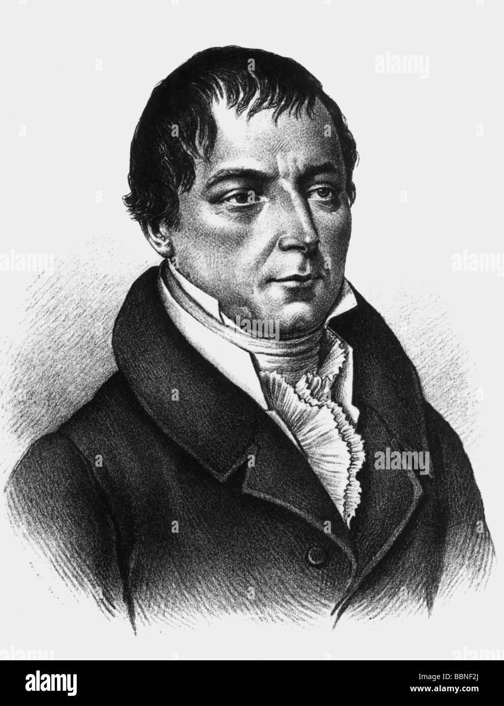 Buch, Christian Leopold-von, 26. 4.174 - 4.3.1853, deutscher Wissenschaftler (Geologe), Porträt, zeitgenössische Gravur, Stockfoto