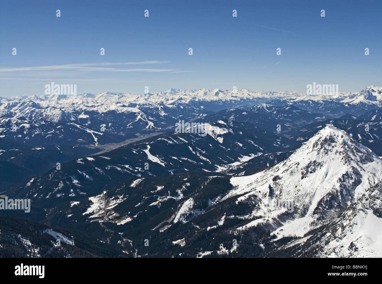 Geographie/Reisen, Österreich, Steiermark, Landschaften, Dachsteinmassiv, Dachsteingletscher (2700 m), Übersicht, Stockbild