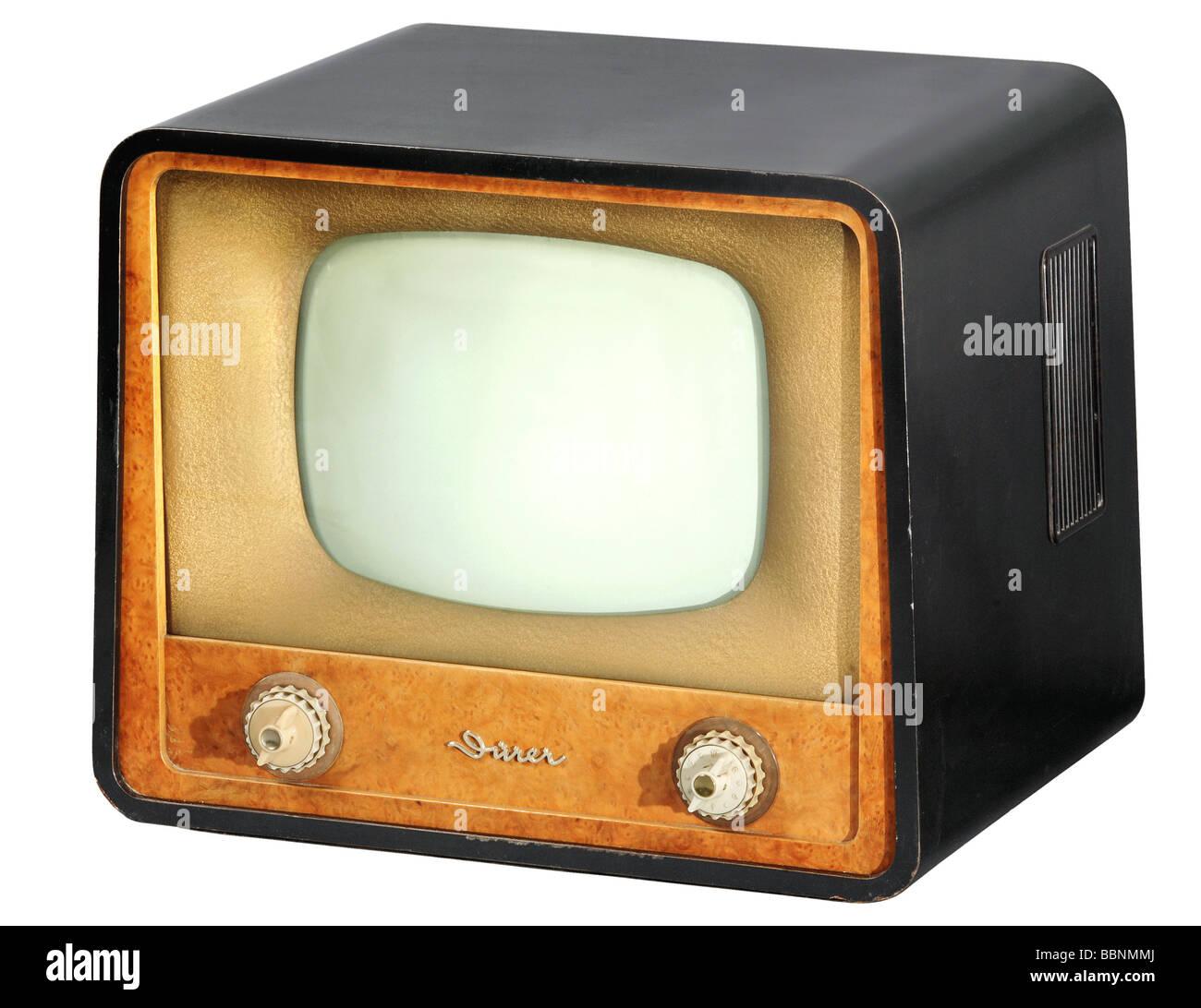 Rundfunk, Fernsehen, Tv, Fernsehgerät Dürer, hergestellt von VEB Sachsenwerk Radeberg, stationär, Stockbild