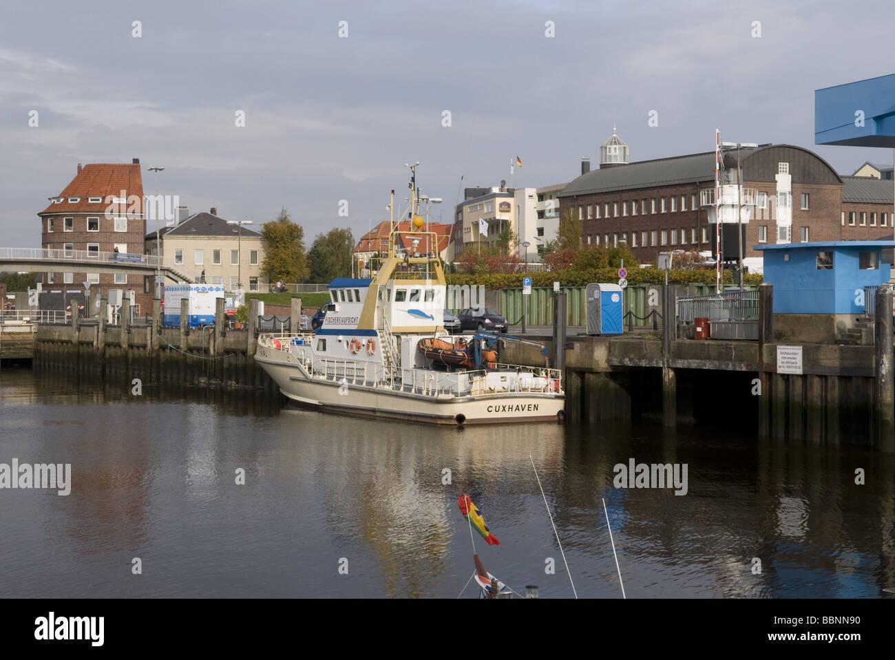 Geographie/Reisen, Deutschland, Niedersachsen, Cuxhaven, Hafen,, Additional-Rights - Clearance-Info - Not-Available Stockbild