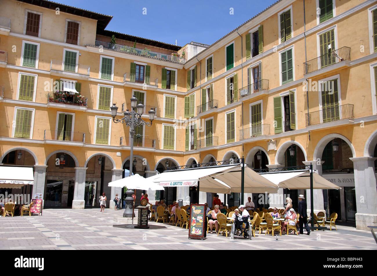 Marktstände, Placa Major, Palma De Mallorca, Palma Stadt, Mallorca, Balearen, Spanien Stockfoto
