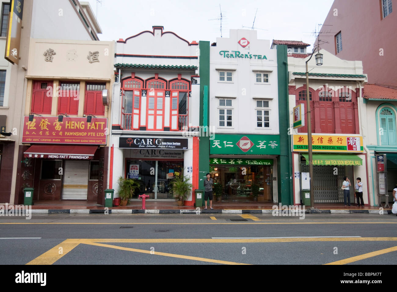 Chinatown, South Bridge Road, Singapur, Südostasien Stockfoto