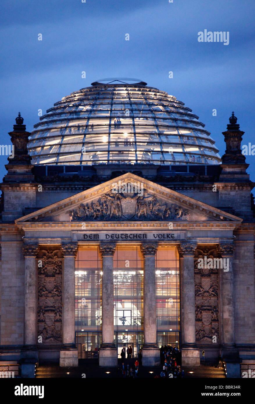 Deutschland Berlin Reichstag Parlament Bund Stockbild