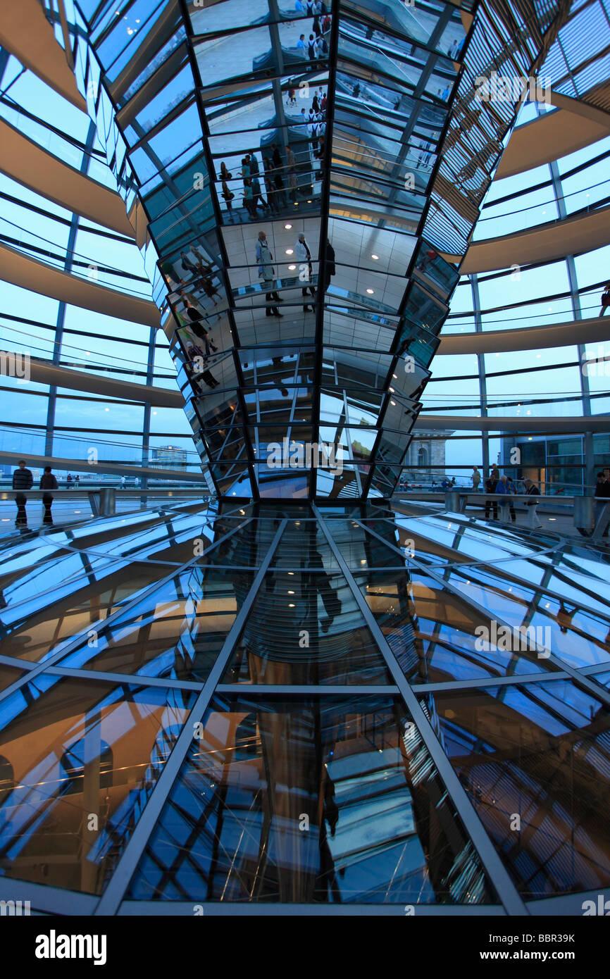 Deutschland-Berlin-Reichstag Kuppel Glaskuppel Architekt Norman Foster Stockbild