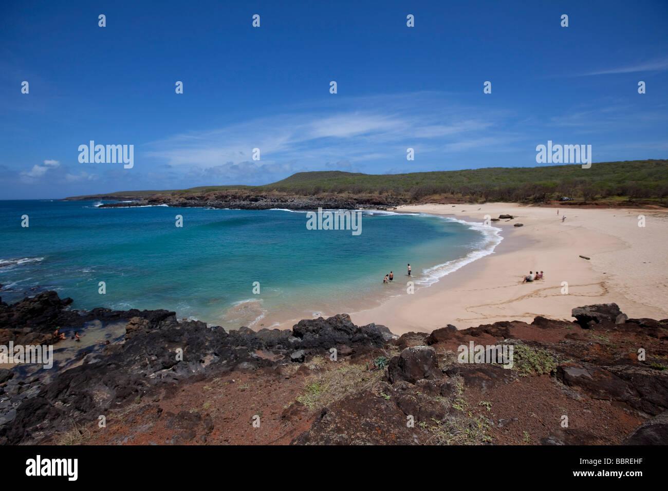 Kawakui Bay Molokai Hawaii Strand Strände Stockbild