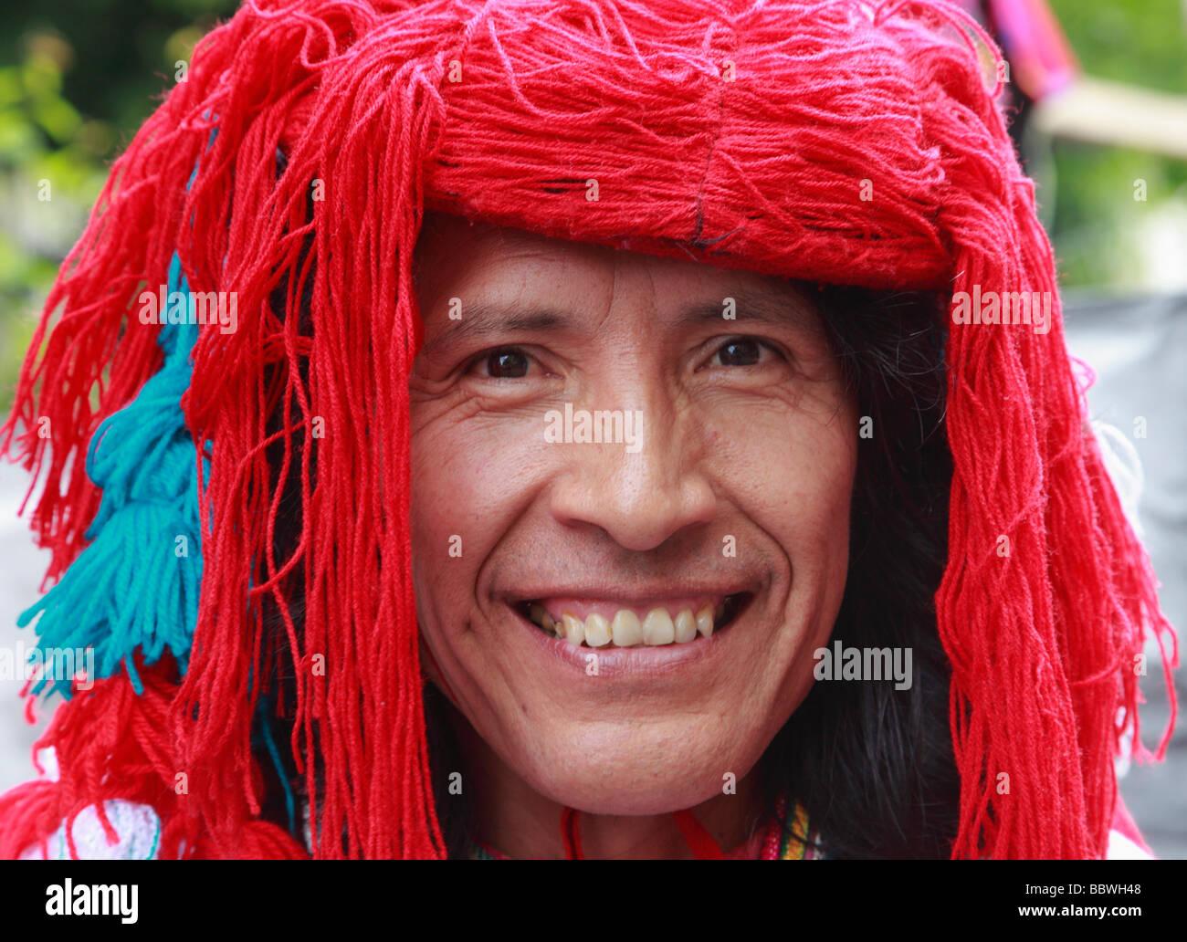 Deutschland Berlin Karneval der Kulturen South American Mann im Kostüm Stockbild