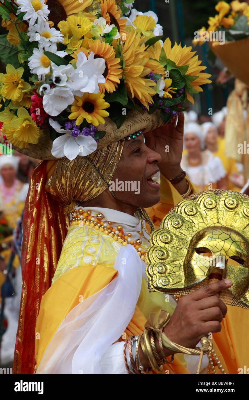 Brasilianischen Mann Deutschland Berlin Karneval der Kulturen Stockbild