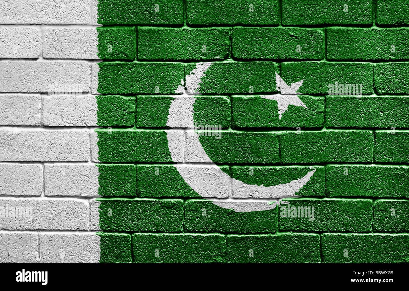 Flagge von Pakistan Stockbild