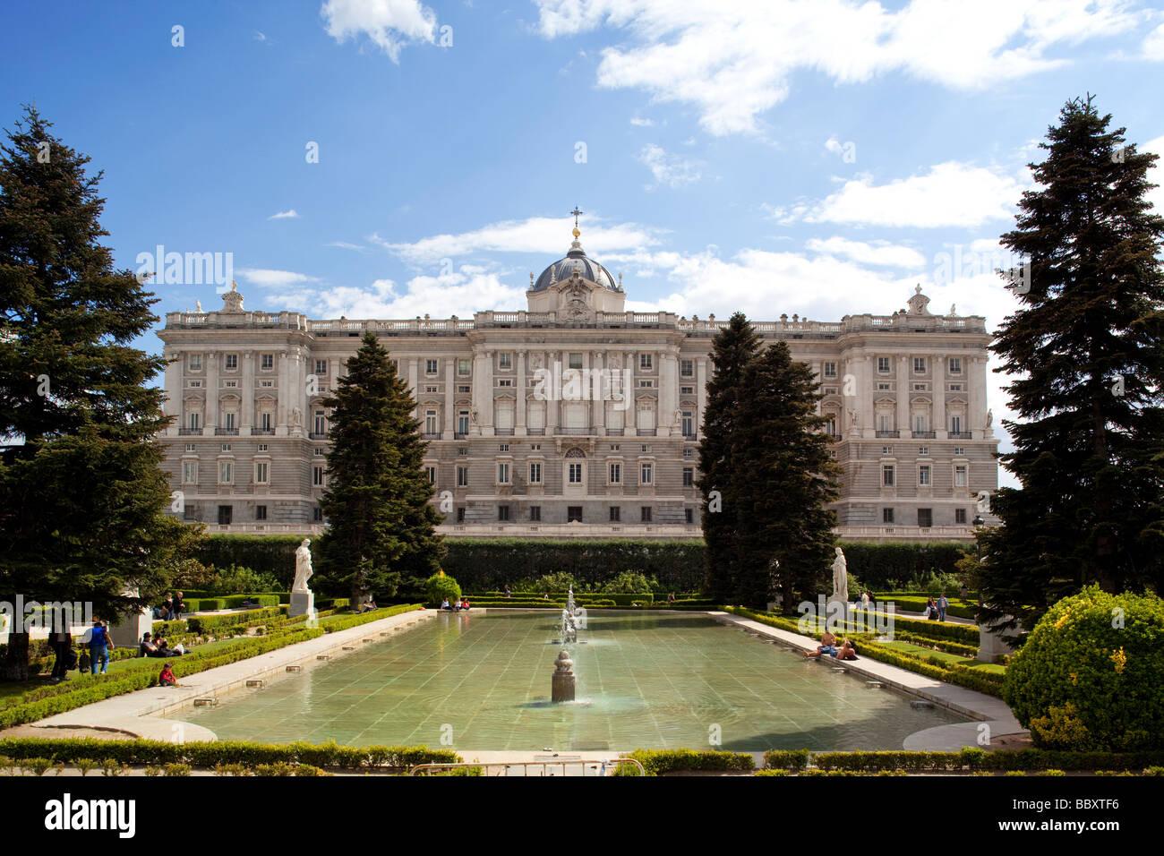 Königspalast, Madrid Spanien Stockbild