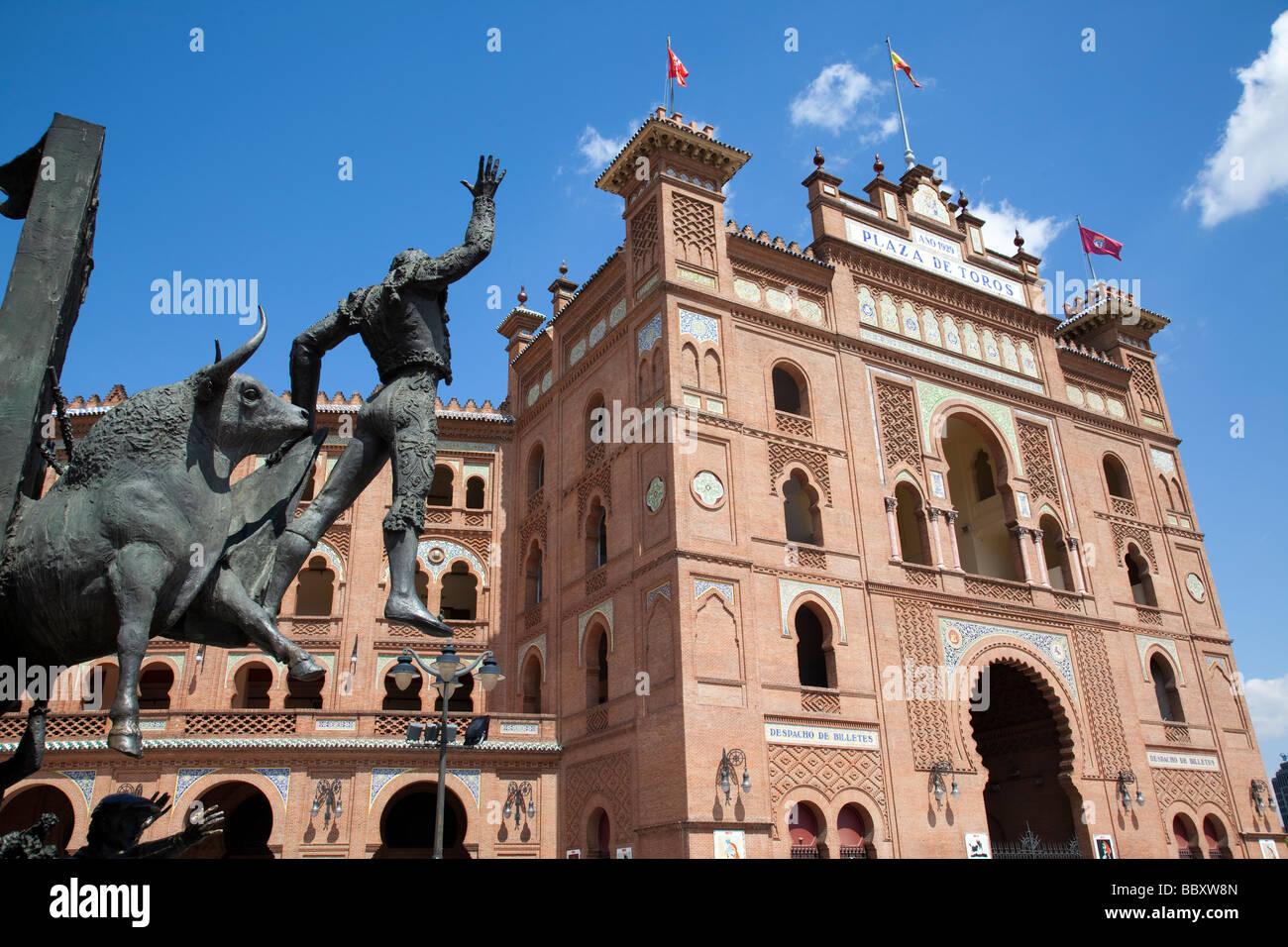 Plaza de Toros de Las Ventas Stierkampfarena, Madrid, Spanien Stockbild