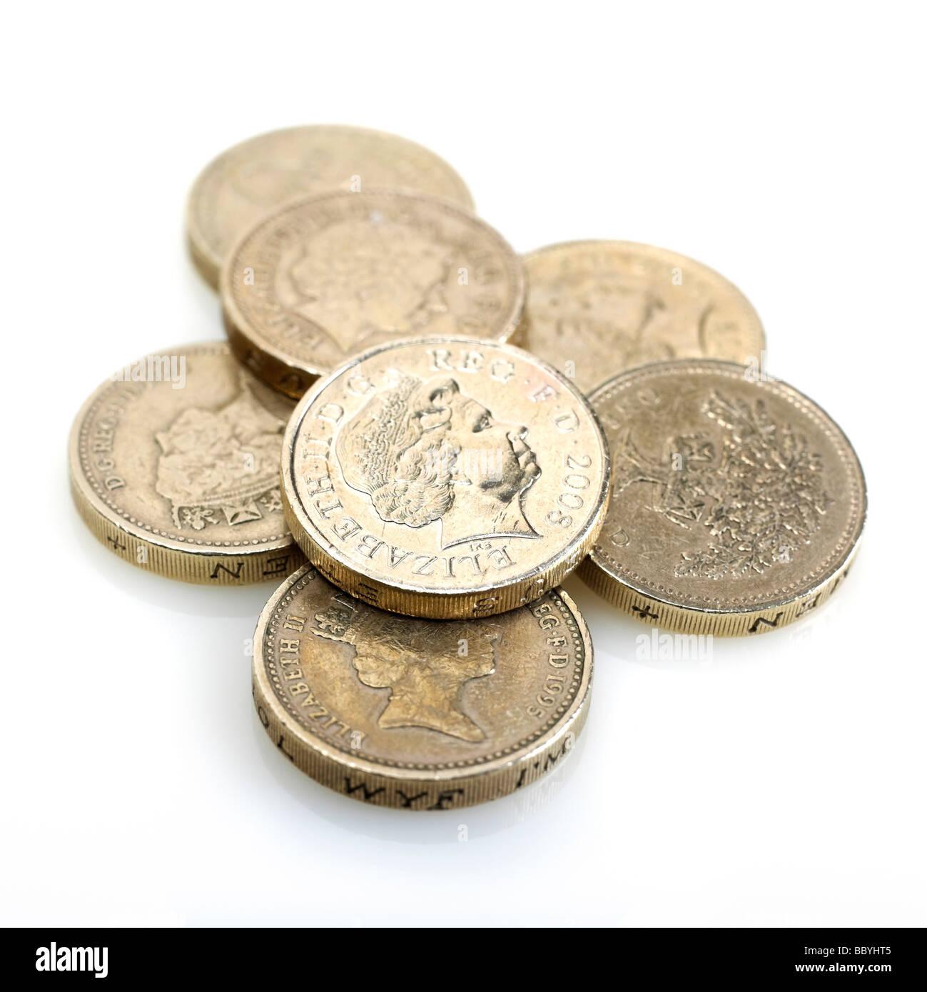 Britische Pfund Münzen Stockfoto Bild 24578293 Alamy