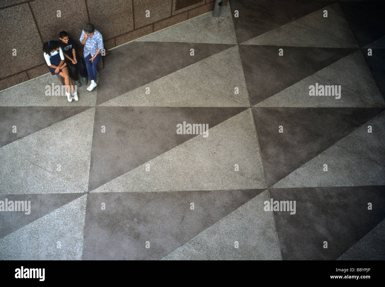 Dreieck Mathe Geometrie Boden Terrazo Fliese Muster Form Menschen ...