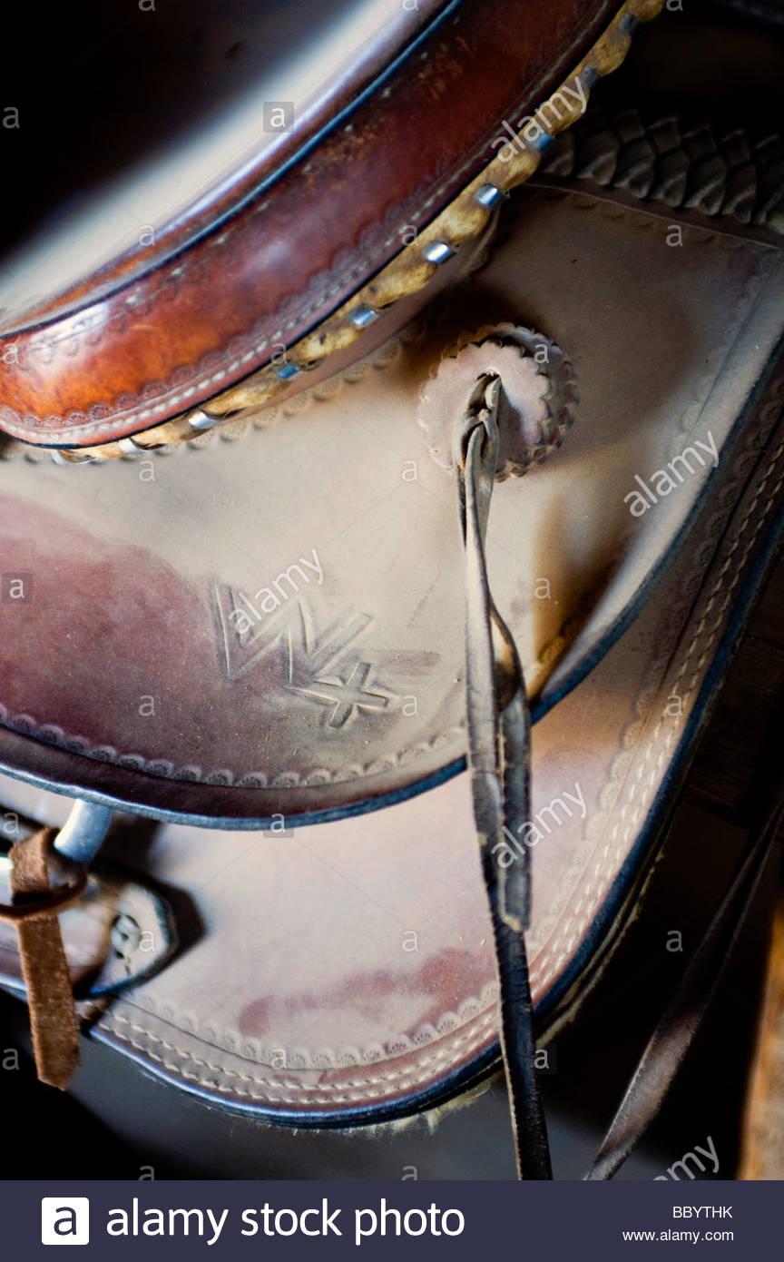 Sattel-Detail Stockbild