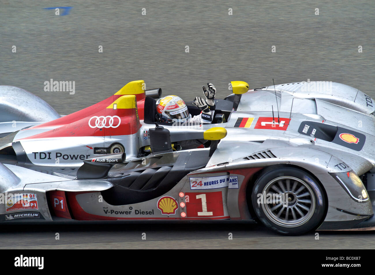 24 Stunden von Le Mans-Sportwagen-Rennen 2009 Stockfoto