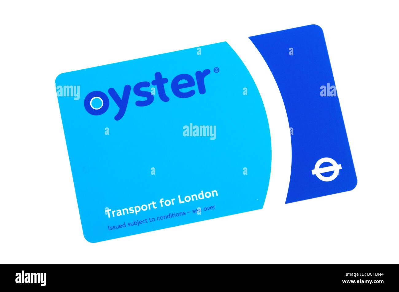 Visitor Oyster Card - verwendet für den öffentlichen Nahverkehr in London Stockfoto