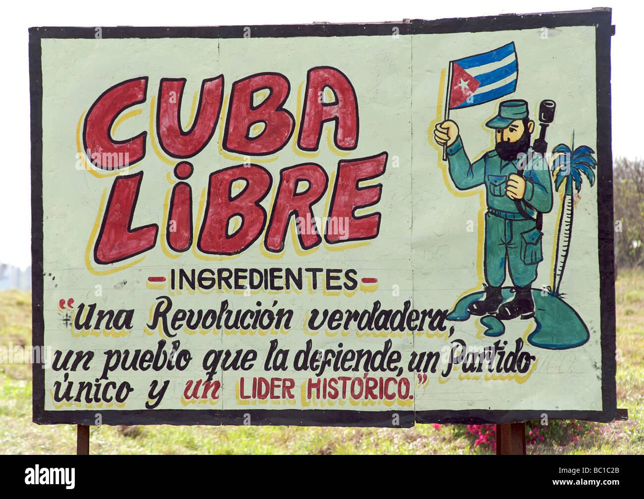 Beeindruckend Zutaten Cuba Libre Dekoration Von Kubanische Revolution Sozialistischen Billboard Zeichnen Eine Analogie