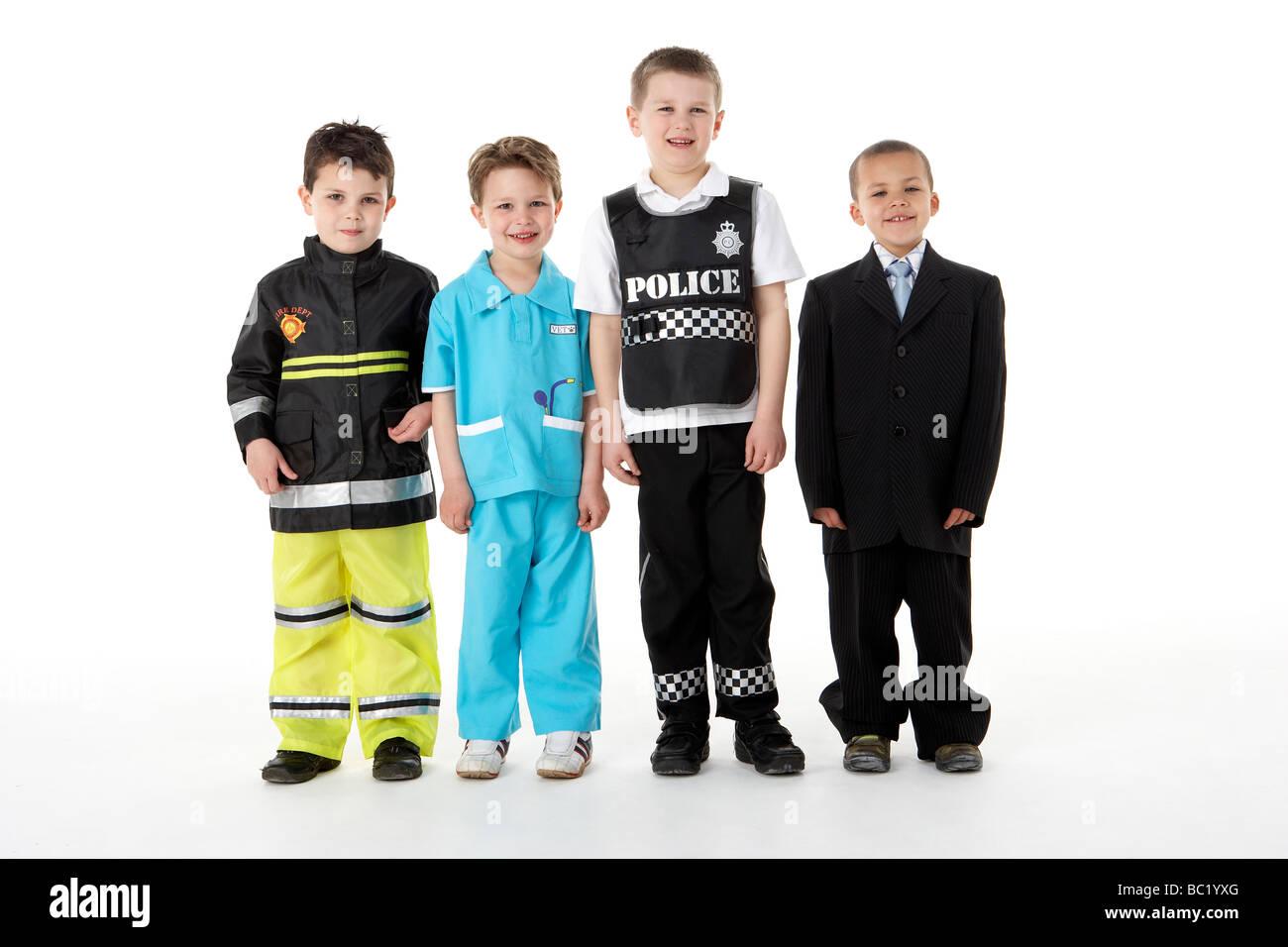 Kleinen Kindern Verband als Berufe Stockbild