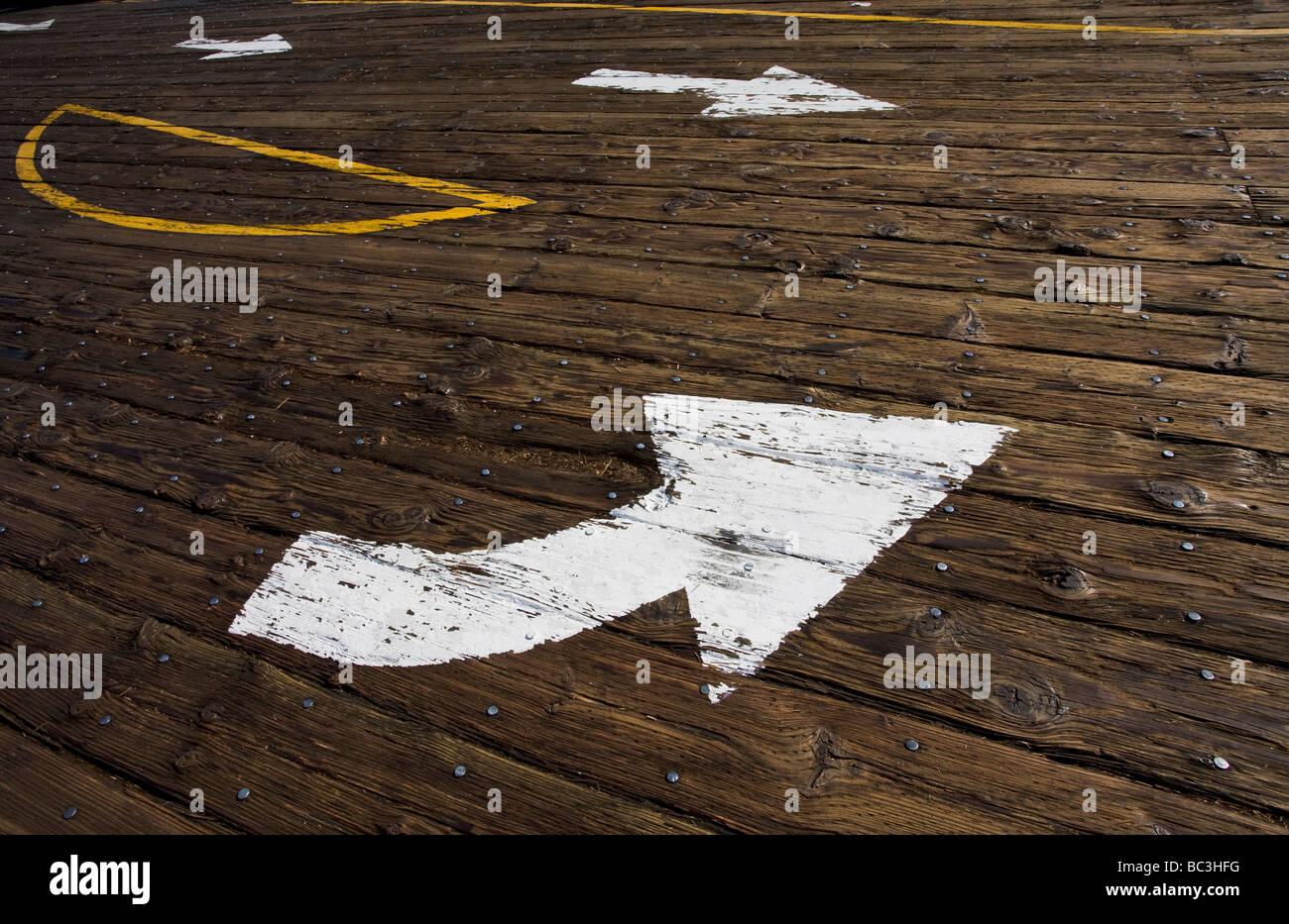 Details zu den Santa Monica Pier Santa Monica Los Angeles County Kalifornien Vereinigte Staaten von Amerika Stockbild