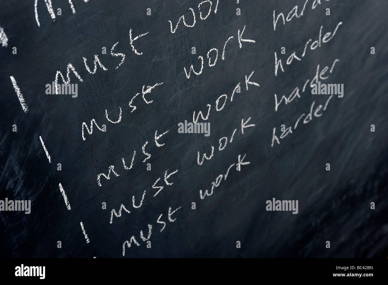 Blackboard Stockbild