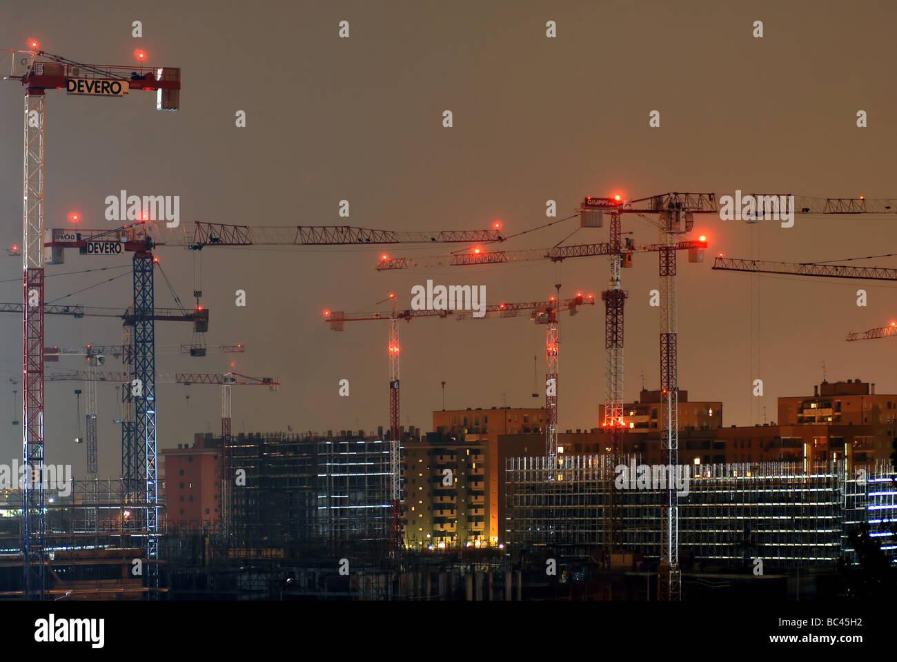 Wohnungsbau-Hof Stockbild